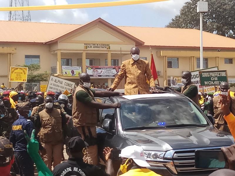 A N'Zérékoré, Alpha Condé se défoule : « si le pays était à terre en 2011, c'est la faute à ces anciens Premiers ministres… »