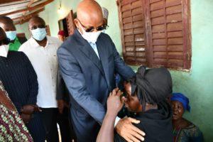 Dalein conduit une forte délégation chez la veuve de feu Roger Bamba